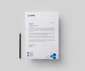 Top Rated Professional Corporate Letterhead Template 000899 - Template Catalog