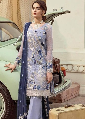 8a87b7ad60 Georgette Party Wear Pant Style Suit In Grey Colour