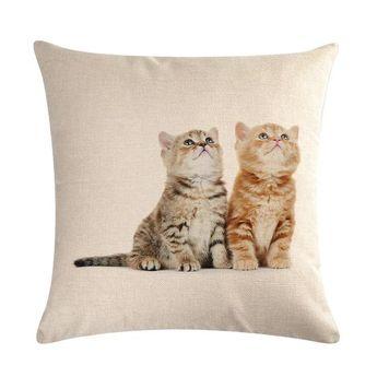 Cute Cat Throw Pillow Cover