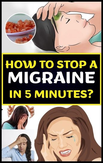 HOW TO STOP A MIGRAINE IN 5 MINUTES