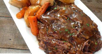 Slow Cooker Pot Roast & Potatoes
