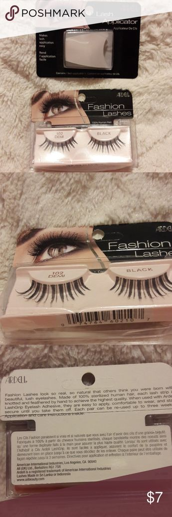 d156f851d93 Ardell Fashion Eye Lashes #102 & Applicator New Demi Black With lash  applicator New with