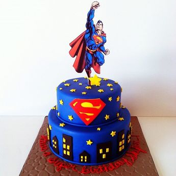 My first Icing Smiles cake! This cake is headed to a special 3 year old boy with Menke's Syndrome. I hope he has a wonderful birthday!! #strawberrycake #supermancake #saraelizabethcakesandsweets #icingsmiles