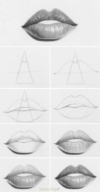 How to draw lips - 10 easy steps