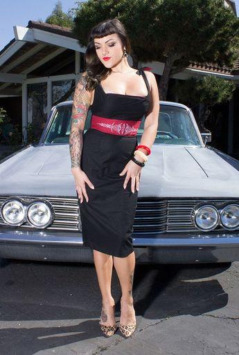 Hot Rod Pinstripe Wiggle Dress