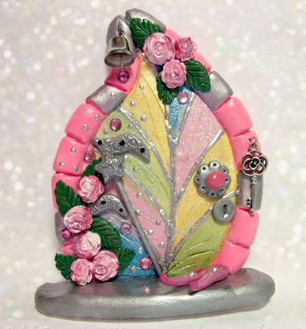 Find this beautiful fairy door and more on www.etsy.com/shop/charmedfairydoors