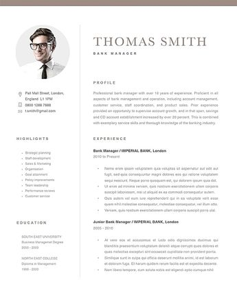 Classic Resume Template 120280 | Templates by Resumeway