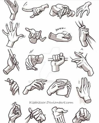 Dicas de desenho - Referência de desenho de mãos