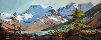 Late Afternoon Mt. Athabaskan by Canadian painter Randy Hayashi