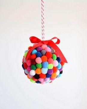 The Pom Pom Ornament craft that never ends