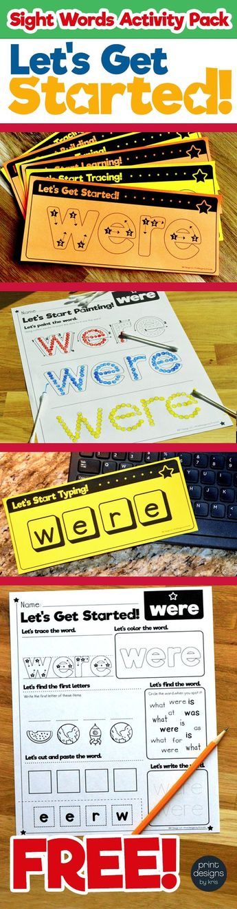 Sight Word Activities Pack • FREE SAMPLE