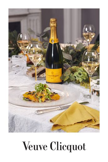 Veuve Clicquot Brut Carte Jaune peut s'accorder avec des mets raffinés mais aussi avec les plats plus simples.