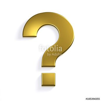 """""""Question Mark in Gold Golden Color Symbol in Style. 3D Rendering Illustration"""" Stock photo and royalty-free images on Fotolia.com - Pic 185394355"""