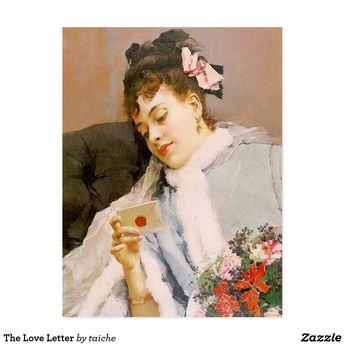 The Love Letter Postcard | Zazzle.com