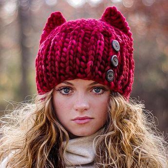 e16aa921b1d CROCHET Cat Hat Pattern - Super Bulky fast crochet - Knit Look Crochet -  Baby Toddler