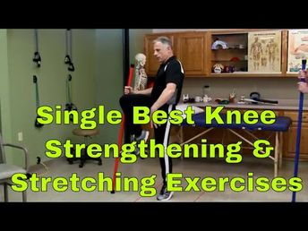 Single Best Knee Strengthening & Stretch Exercises At Home - YouTube