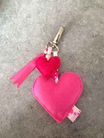 Sleutelhanger vilt roze