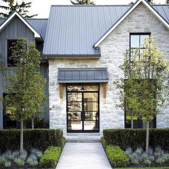 ✔78 Awesome Modern Farmhouse Exterior Design Ideas - profhomedecor.com