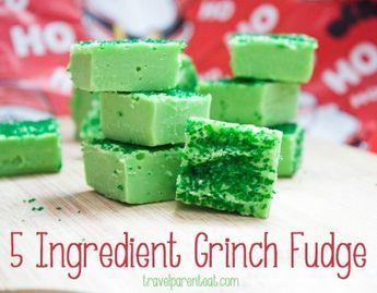 5-Ingredient Grinch Fudge