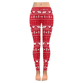 9e29f3aead1 Ladies Yoga Leggings Size XXS-5XL with Colorful Winter Pattern Printed  Outdoor Legging