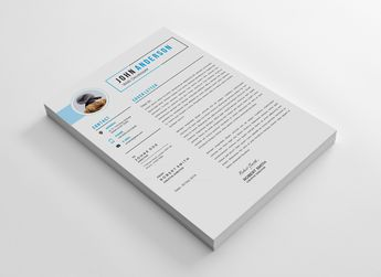 Stylish CV Design Template 002873 - Template Catalog