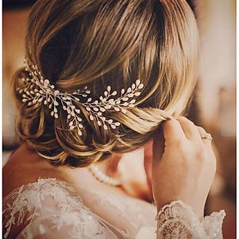 Alloy Hair Combs with Faux Pearl 1 Piece Wedding / Special Occasion Headpiece