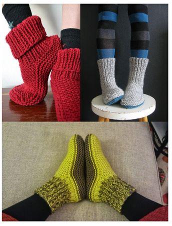 C'est l'hiver, il fait froid. Réchauffez vos pieds en les glissant dans ses chaussons à tricoter. Simple, pratique, tuto gratuit, en français. Cliquez sur le lien pour découvrir le modèle de tricot de ses chaussons pour adultes colorés.
