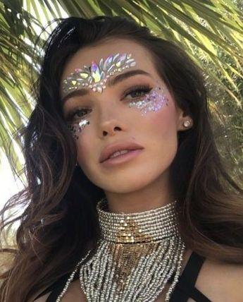 Face Jewels EDC Rave outfits, Festival Diamond Face Sticker, Adhesive Makeup rhinestones, Unicorn Princess Crystal Face Tattoo Sticker @Glamorousgala