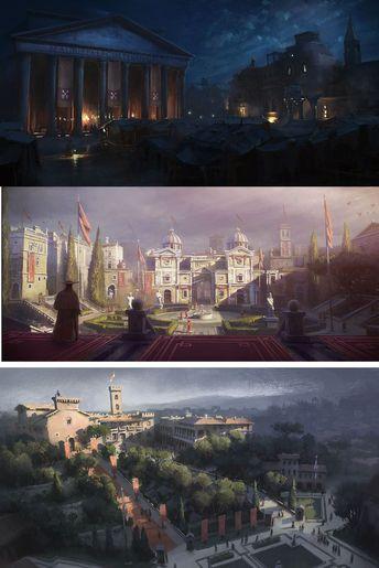 Concept Arts de Gilles Beloeil para Assassin's Creed Revelations | THECAB