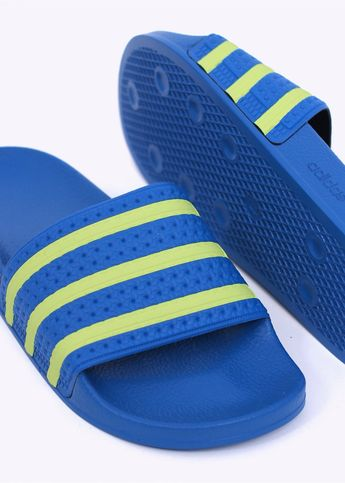 reputable site 0f98b 3961b Adidas Originals Footwear Adilette Sandals - Blue   Yellow