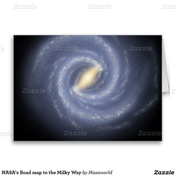 Road map to our Galaxy in the Milky Way Card | Zazzle.com