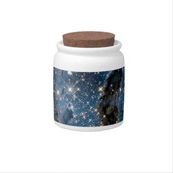 Infrared Eagle Nebula Pillars of Creation Candy Jar | Zazzle.com