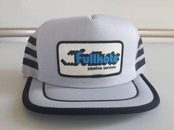 5d4c3851f64 Vintage Fullkote Pipeline Service 3 Stripe Snapback Mesh Oil Trucker Hat