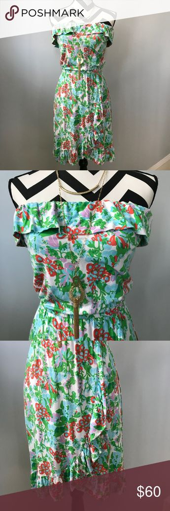 9f7f721364c Lilly Pulitzer Flor Dress Lilly Pulitzer Flor Dress in Mini Bee in Your  Bonnet. Super