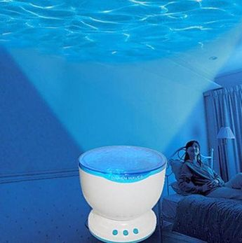 Product :This lamp recreatesasparkling sea.Projectscalm sea on the ceiling for a soothing bedtime effect. Ideal for kids who would like a night la