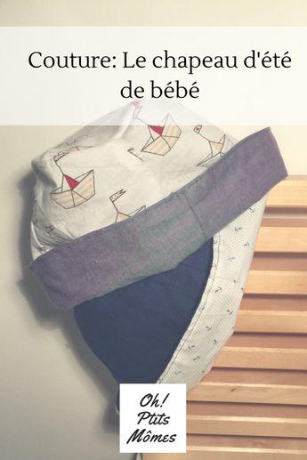 Couture: tuto et patron du chapeau de bébé réversible - oh!Ptits Mômes