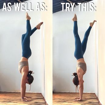 "1,737 mentions J'aime, 30 commentaires - Yoga Instructor • Health Coach (@adellbridges) sur Instagram : ""The wall is my favourite handstand prop!! . . Use a wall to: - learn how it feels to be upside down…"""