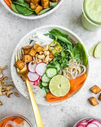 Banh Mi Bowls with Crispy Tofu