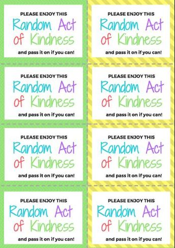 2,018 Random Acts of Kindness Challenge!