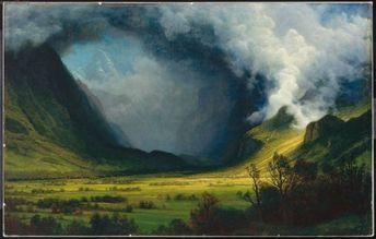Albert Bierstadt Storm In The Mountains Painting
