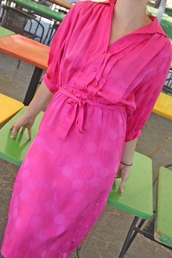 Vintage Ciara 80's silk dress