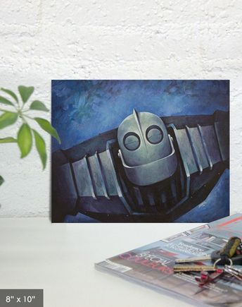 Iron Giant Print You Are Who You Choose To Be - Superman painting reproduction