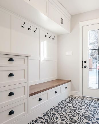 """Trademark Homes on Instagram: """"Mudroom goals! 🙌🏼 Our clients asked us to take a space that was an old closet and tight back entrance and create an organized mudroom. We…"""""""