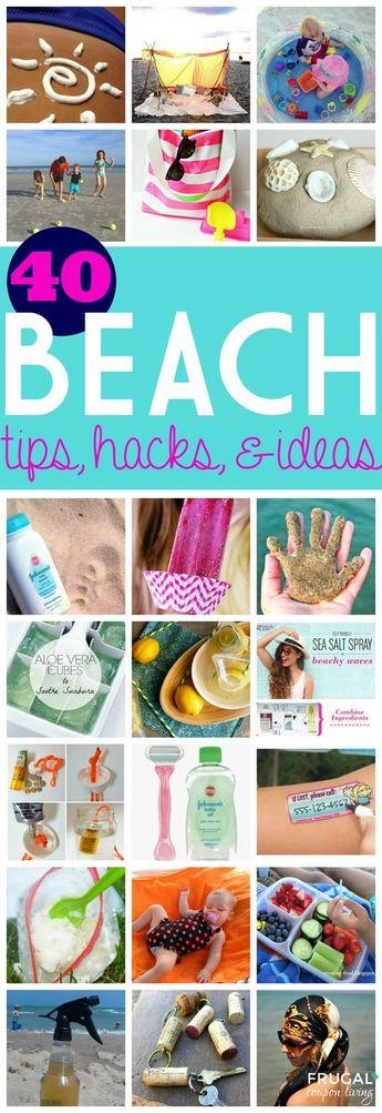 40+ Beach Hacks , Tips and Ideas