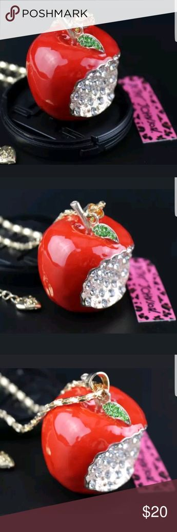 b39a877b4 Apple Red (Teacher's Apple) Necklace by Betsey Joh New with tags Betsey  Johnson Jewelry