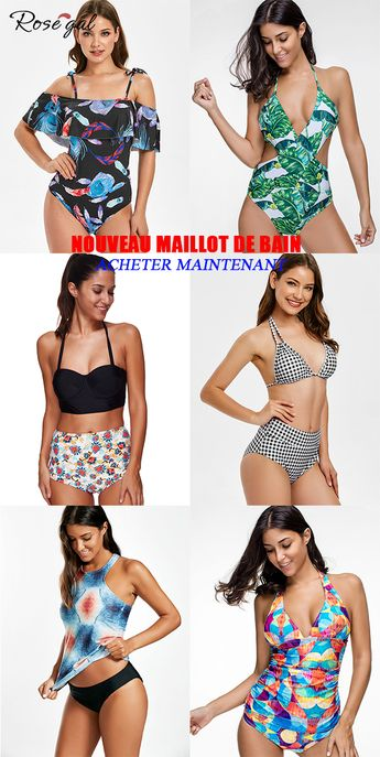 Maillot de bain femme une pièce tendance 2019 #Rosegal #maillot #femme #mode #été