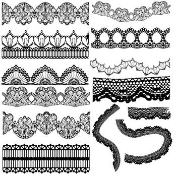 Elegant black lace vector Free vector in Encapsulated PostScript eps ( .eps ) vector illustration graphic art design format format for free download 2.34MB. Vector Frames & Borders, lace pattern, vector lace