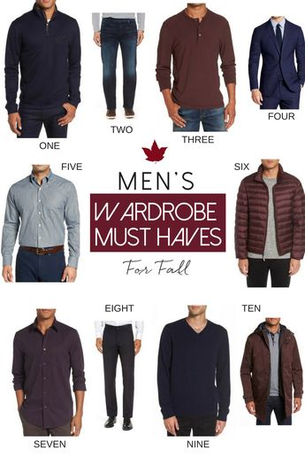 10 Men's Wardrobe Must-Haves for Fall