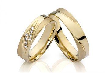 Round Cut White Sapphire Gold Titanium Steel Promise Rings