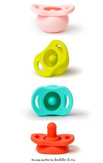 Introducing The Pop: A cleaner, self-protecting pacifier (the nipple pops back into its protective bubble when it drops). As seen on Shark Tank. #becausebabies